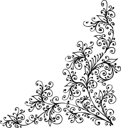 Refined Floral vignette 일러스트