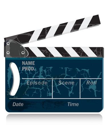 slate film: Clapperboard
