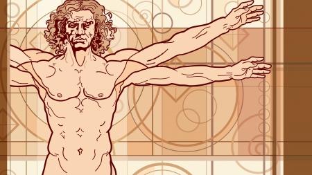 vitruvian man: El hombre de Vitruvio (fragmento)