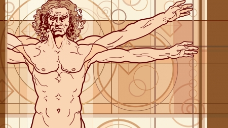 The Vitruvian man (Fragment) Vector