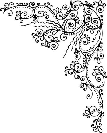 Refined vignette 333. Eau-forte decorative vector illustration. Stock Vector - 7882307