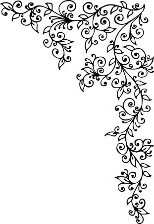 arabesque: Vignette floral CDXX  Vectores
