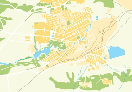 Vector Geo Map of The City. Color bright decorative background EPS-8 Vector illustration. Illustration