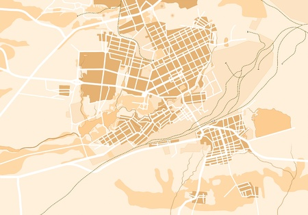 Map of The City 2. Decorative background illustration EPS8.