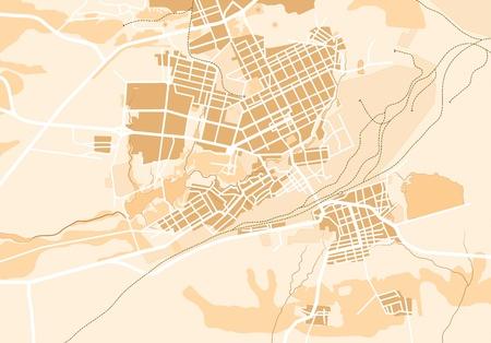 Map of The City 2. Decorative background illustration EPS8.