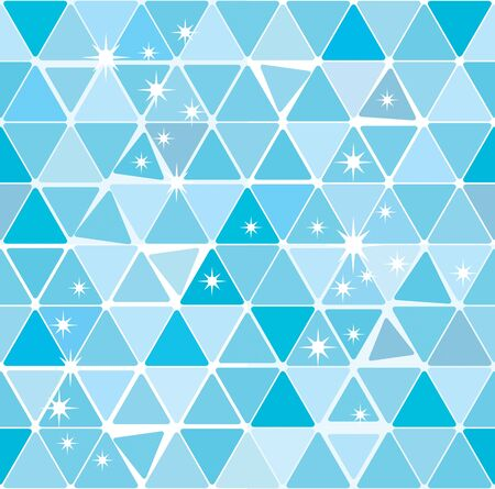 Bright blue winter triangle decorative background seamless pattern EPS8 Vector