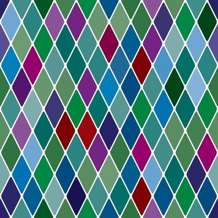 arlecchino: Harlequine Esmerald pattern seamless sfondo
