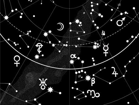 horóscopo: Astronomical Celestial Atlas (Fragment)  Ilustração