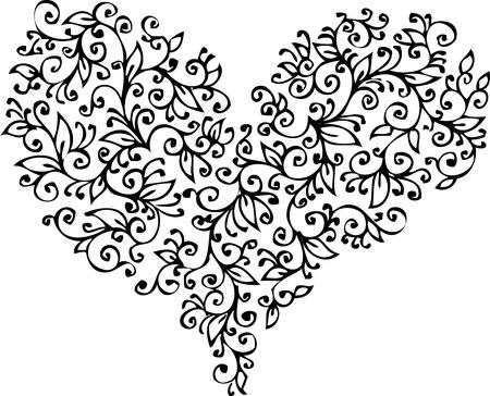 Romantic Floral Refined vignette 18 Eau-forte black-and-white decorative background texture pattern