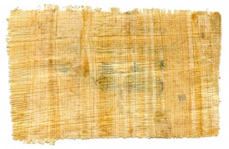 Fragment eines leeren ägyptischen Papyrus für strukturierten Hintergrund Standard-Bild