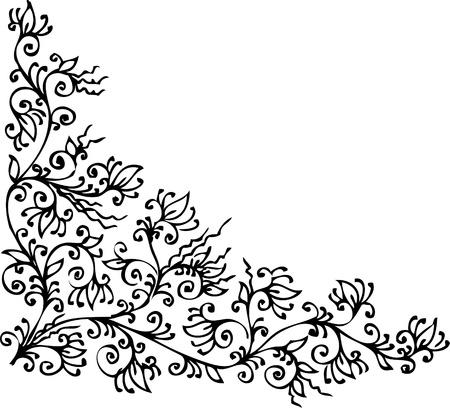Refined vignette 343 Eau-forte decorative background texture  Vector