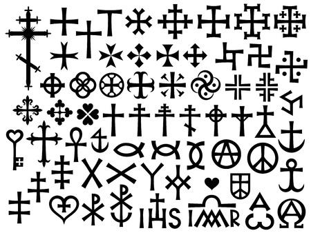 Heraldische Kreuze und Christian Monogramme, mit Ergänzungen und mehr