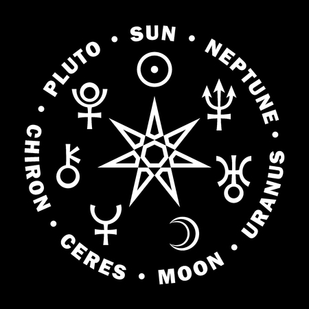 occult: The Septener of New Age. The Star of Magicians of The New Age. Seven supreme planets of Astrology.