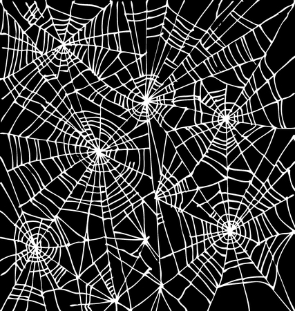Halloween web background 301-Bk. Eau-forte black-and-white decorative texture vector illustration. Illustration