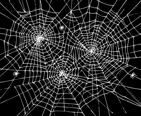 Halloween Web Hintergrund 307. Eau-Forte schwarz-weiß dekorative Textur Vektor-Illustration.