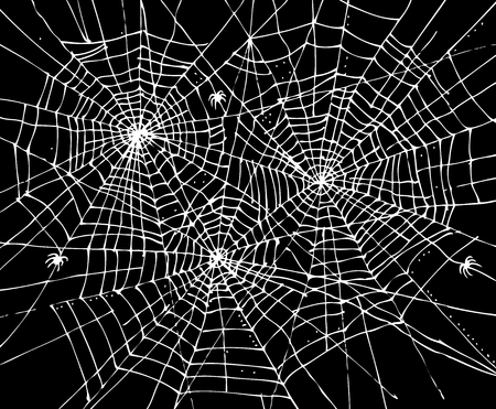 Halloween web background 307. Eau-forte black-and-white decorative texture vector illustration.