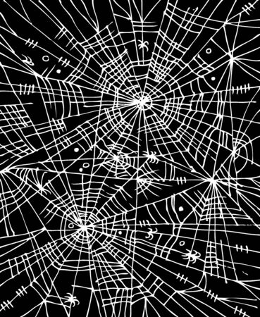 Halloween-Webachtergrond 304 Eau-forte zwart-witte decoratieve textuur vectorillustratie.