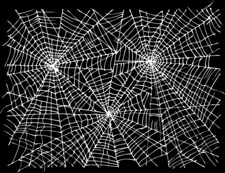 Halloween web background 308. Eau-forte black-and-white decorative texture vector illustration. Illustration