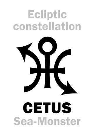 Astrology Alphabet Sign Of Cetus The Sea Monster Constellation
