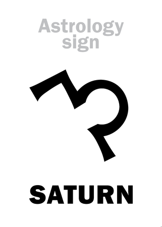 Astrology Alphabet Saturn Classic Major Social Planet