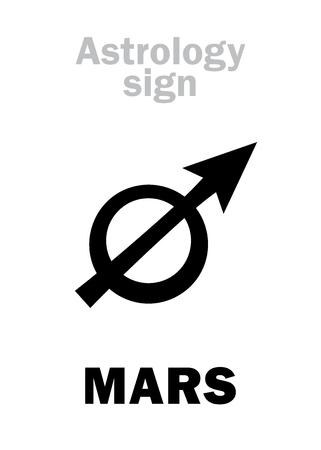점성술 알파벳 : 행성 (Pyroeis), 행성상 (행성). 상형 문자 문자 기호 (고 대 그리스 기호)입니다.