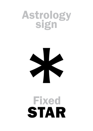 Astrology Alphabet: fixed STAR. Hieroglyphics character sign (single symbol).