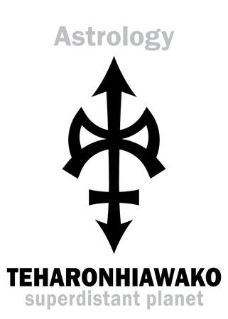 iroquois: Astrology Alphabet: TEHARONHIAWAKO, super-distant trans-neptunian asteroidplanetoid. Hieroglyphics character sign (single symbol).