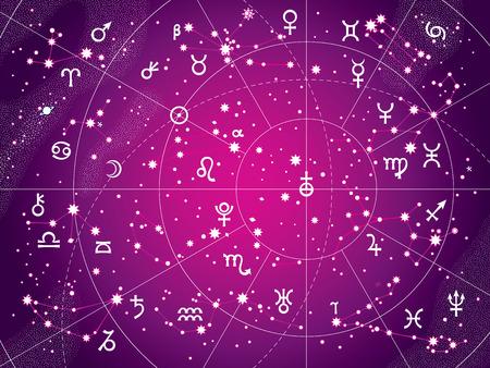 별자리와 행성은 주권자입니다. 일러스트