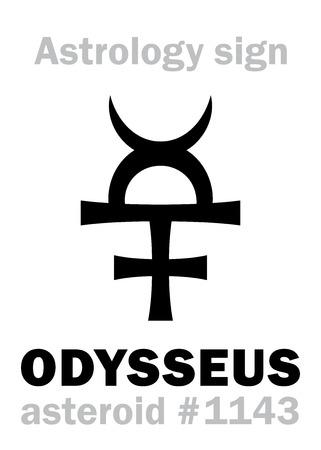 guile: Astrology Alphabet: ODYSSEUS (Ulysses), asteroid #1143. Hieroglyphics character sign (single symbol).