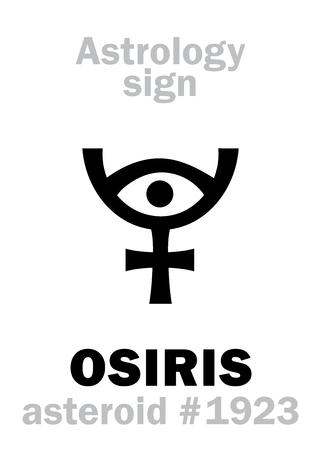 Astrology Alphabet: OSIRIS (Usir), asteroid #1923. Hieroglyphics character sign (single symbol).