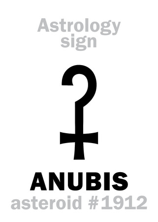 hermetic: Astrology Alphabet: ANUBIS (Anpu), asteroid #1912. Hieroglyphics character sign (single symbol).