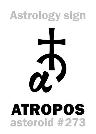 Astrology Alphabet: ATROPOS. Ilustração