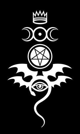 마술의 상징과 신성의 표시