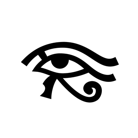 Horus eye, Eye of Ra. Ancient Egyptian Hieroglyphic Mystical Sign.
