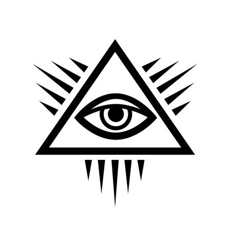 All-Seeing Eye of God (The Eye of Providence | Eye of Omniscience | Luminous Delta | Oculus Dei). 版權商用圖片 - 88095806