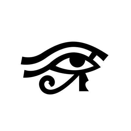 ホルスの目 (ウアジェト) ラー アンティーク エジプト象形文字神秘的な記号の目。