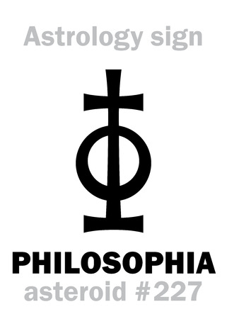 Astrology Alphabet: PHILOSOPHIA, asteroid #227. Hieroglyphics character sign (single symbol). Illustration