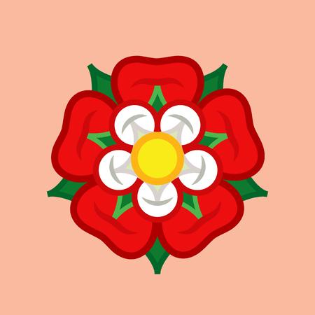 Rose (Queen of Flowers). Bloem uit The Garden of Eva; Paradise bloem. Het symbool van liefde en passie, schoonheid en perfectie; ook heraldisch embleem.