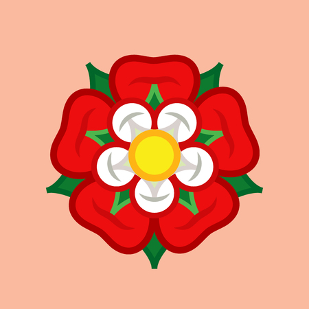 Rose (Queen of flowers). Flower from The Garden of eve; Paradise flower. The symbol of love and passion, beauty and perfection; also heraldic emblem.
