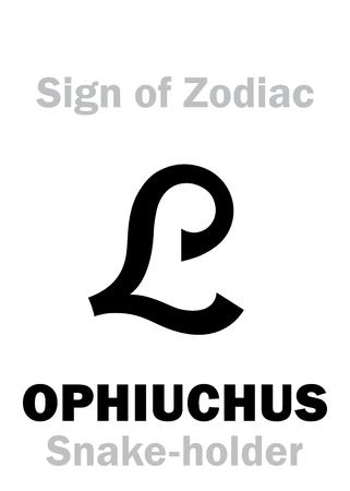 Astrologie Alphabet 13 Sign Of Zodiac Ophiuchus Serpentarius The