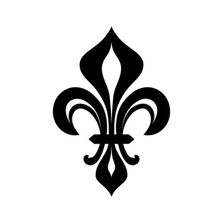 Fleur-de-lys (꽃 드 luce), 로얄 heraldic 릴리. 로얄 파워의 상징과 통치의 상징.
