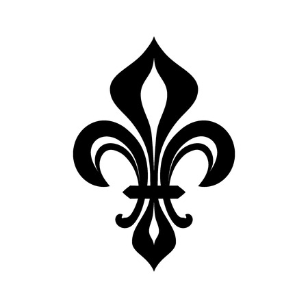 Fleur-de-lys (flower de luce), Royal heraldic Lily. The symbol of Royal power and the emblem of Reign.