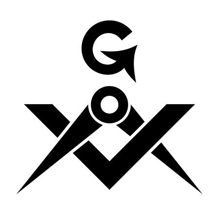 The Masonic Square and Compasses emblem design.