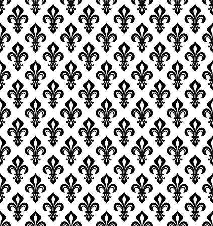 Royal heraldic lilies pattern.