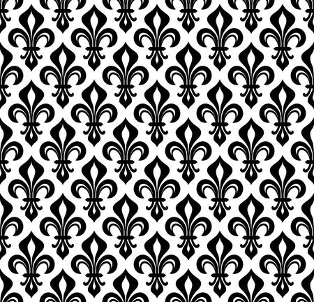 Royal heraldic Lilies wallpaper background, seamless pattern