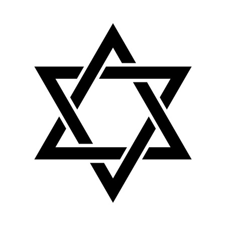 Magen David (The Shield of David, or The Star of David, or The Seal of Solomon), the Jewish Hexagram. Traditional Hebrew sign and one of the main symbols of Israel, Judaism and Jewish identity. Ilustração