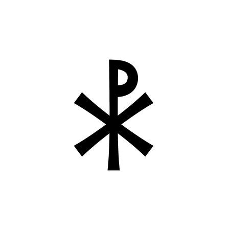 Christogram — Christian monogram of Jesus Christ, The Savior, The Lord Our God. Vettoriali