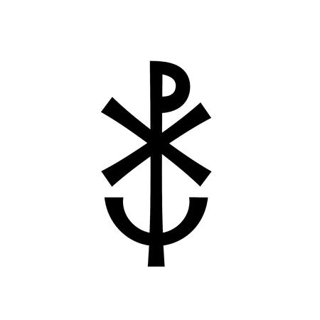 Christian monogram symbol illustration.
