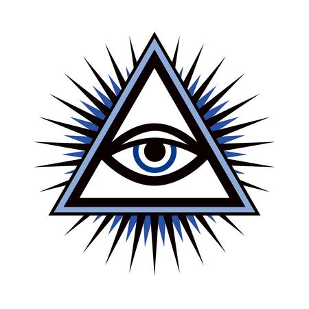 하나님의 만남의 눈 (섭리의 눈 | 온 세상의 눈 | 빛의 델타 | 오쿨루스 데이). 일러스트