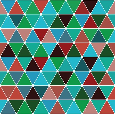 Mardi gras triangle pattern seamless tile background. Stock Illustratie